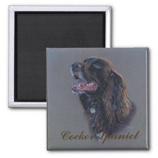 Engish Cocker Spaniel dog. Fine art painting. Magnet