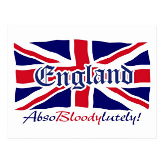 England Absobloodylutely 4 Postcard