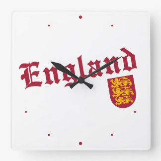 England and Crest Square Wall Clock
