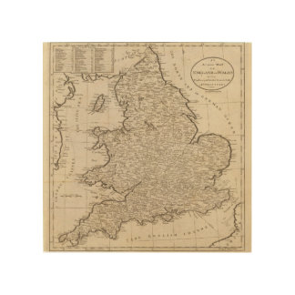 England and Wales 6 Wood Print