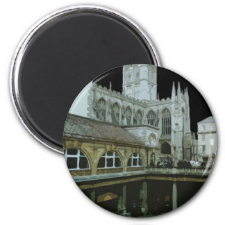 England Bath Cathedral 6 Cm Round Magnet