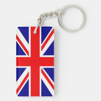 England, British Flag Rectangular Acrylic Keychain