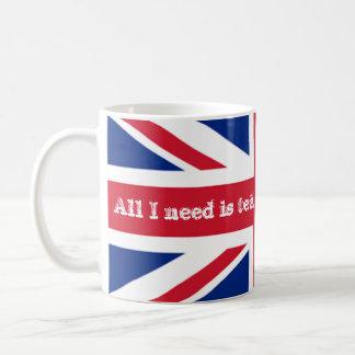 England British Need Tea Flag Union Jack Coffee Mug