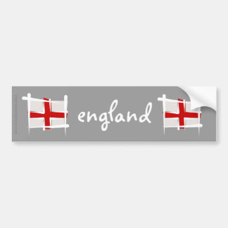 England Brush Flag Bumper Sticker