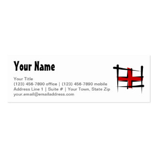 England Brush Flag Pack Of Skinny Business Cards