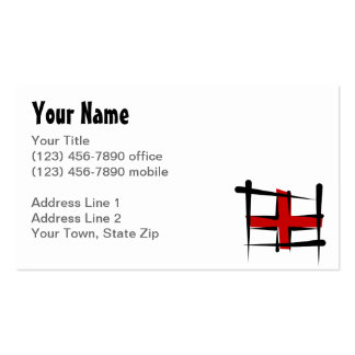 England Brush Flag Pack Of Standard Business Cards