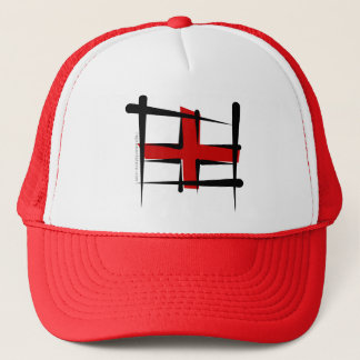 England Brush Flag Trucker Hat