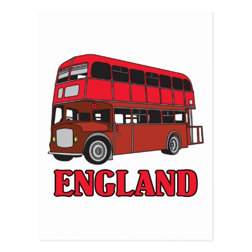England Bus Post Card