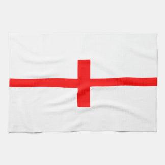 england country flag long symbol english name text hand towel