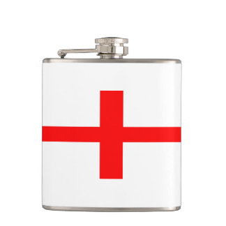 england country flag long symbol english name text hip flask