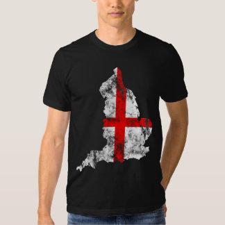 England Distressed Flag T-shirt