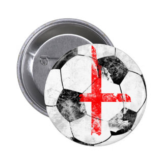 England Distressed Soccer Pins