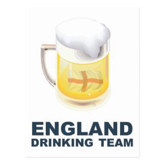 England Drinking Team Postcard