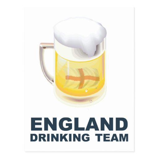 England Drinking Team Post Card