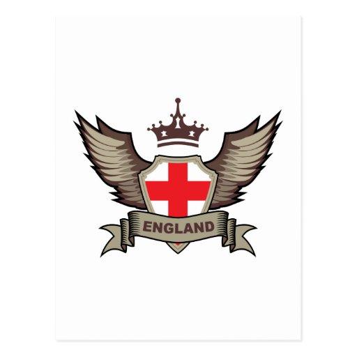 England Emblem Post Card