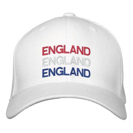 ENGLAND EMBROIDERED BASEBALL CAPS