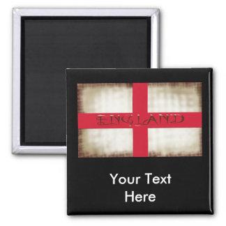 England English Grunge Flag Saint George Cross Square Magnet