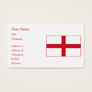England – English National Flag Business Card
