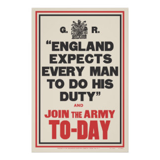 """ENGLAND EXPECTS..."" PRINT"