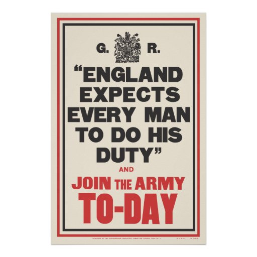 """""""ENGLAND EXPECTS..."""" PRINT"""
