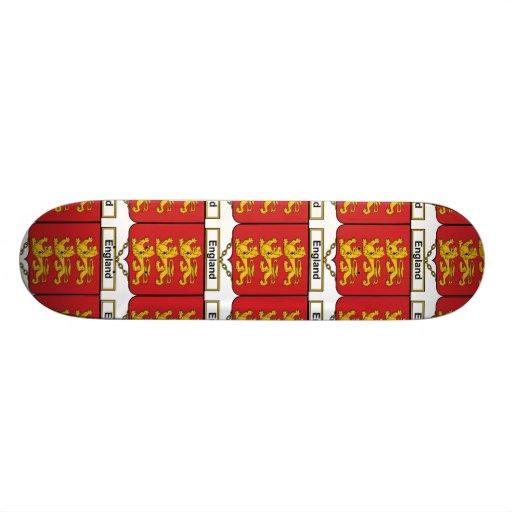 England Family Crest Skate Board Deck