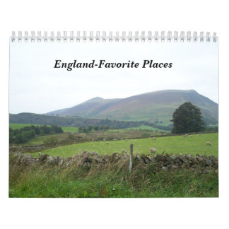 England-Favorite Places Calendars