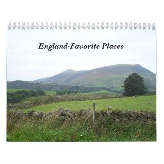 England-Favorite Places Calendars