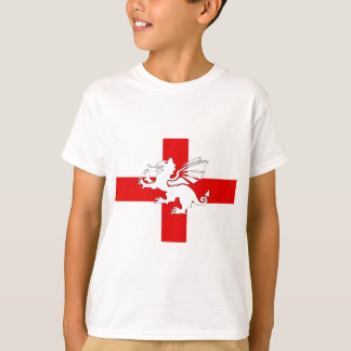 England Flag and Dragon T-Shirt