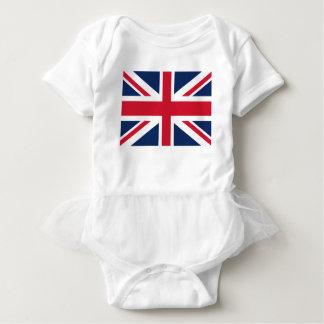 England flag baby bodysuit