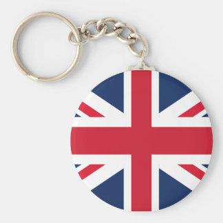 England flag basic round button key ring