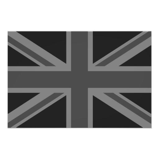 England Flag Black Gray Photo