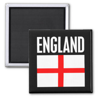 England Flag Black Magnet