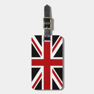 England Flag Black Red White Luggage Tag