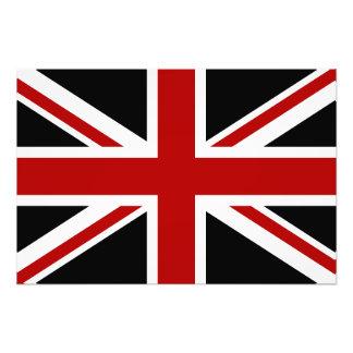 England Flag Black Red White Photo Print