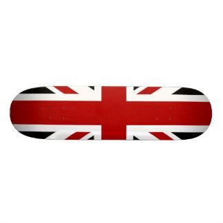 England Flag Black Red White Custom Skateboard