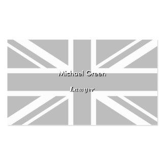 England Flag Black White Pack Of Standard Business Cards