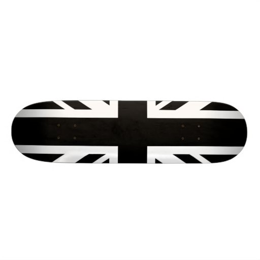 England Flag Black White Skate Decks