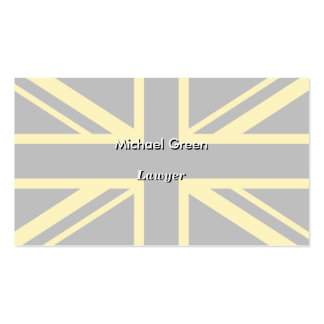 England Flag Black Yellow Pack Of Standard Business Cards