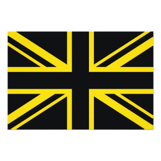 England Flag Black Yellow Art Photo