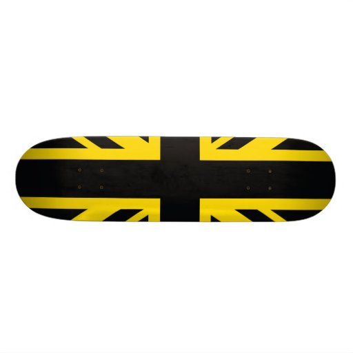 England Flag Black Yellow Skateboard Decks