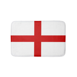 England Flag Button Bath Mat