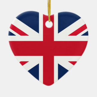 England flag ceramic ornament
