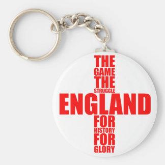 England Flag Football Team Keychain