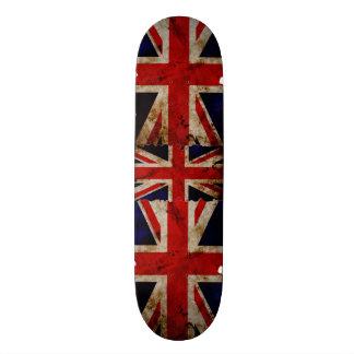England Flag Grunge Trick Board 21.6 Cm Old School Skateboard Deck