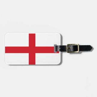 England flag luggage tag