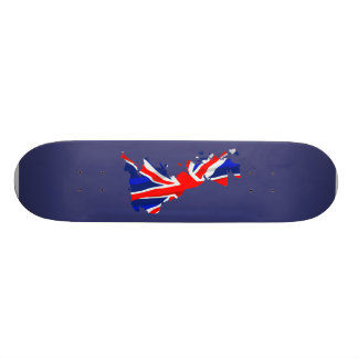 England Flag Map Skateboard
