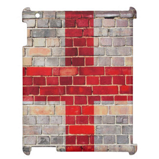 England flag on a brick wall cover for the iPad