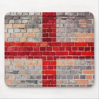 England flag on a brick wall mouse pad