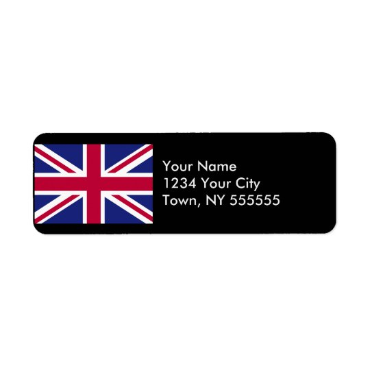 England Flag Return Address Label