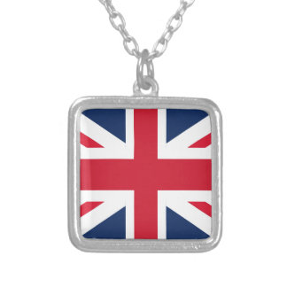 England flag silver plated necklace